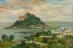 'St Michael's Mount,' (1955, oil on board), Lamorna Birch (English, 1869-1955).