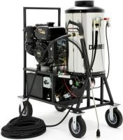 The Super Max 10880 pressure washer is a gas powered, oil fired, powerful commercial steam pressure washing equipment, which offers the additional advantage of portability while gum removal.