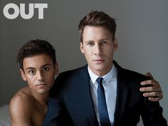 Dustin Lance Black and Tom Daley fell in love at first smiley.
