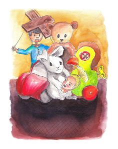 #illustration #toys #watercolor