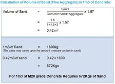 How to calculate cement, sand and aggregate required for 1 cu.m of concrete (Concrete Mix Design). Different grades of concrete and how to chose the grade Engineering Notes, Civil Engineering Design, Civil Engineering Construction, Building Costs, Building Design, Water Cement Ratio, Grade Of Concrete, Concrete Mix Design, Architecture Symbols