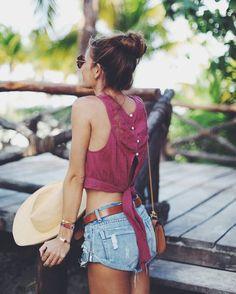 Romper: shirt, b a r t a b a c, swimwear, dress, shoes, blogger, bag, sunglasses, shorts, top, jeans, jewels, t-shirt, belt, skirt - Wheretoget