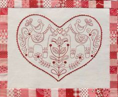Scandinavian Rose BOM Complete - by Rosalie Quinlan - $130.00 : Fabric Patch, Patchwork Quilting fabrics, Moda fabric, Quilt Supplies, Patterns