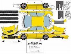 Road Fever - Automóveis, Rock n´Roll, Miniaturas e Etc!: PaperCraft: Mitsubishi Lancer