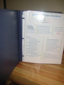 Emergency Binder...some really great ideas