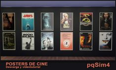 Posters de Cine. Sims 4 Download and Youtube tutorial.