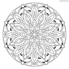 Focus Wellness Mandala No. 8 for coloring