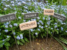 Imprinted Polymer Clay | 26 DIY Plant Markers For Your Springtime Garden