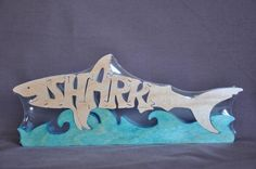 Shark Wood Puzzle Hand Cut with Scroll Saw Toy. $12.49, via Etsy.