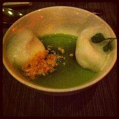 Dessert : Jasmine, cucumber, honeydew, Chartreuse...