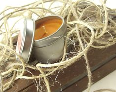 Winter Orange scented Soy Candle  Candle with Lid by curiouscarrie