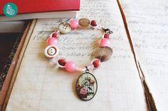 Pink romantic bracelet by FraGiú handmade  www.facebook.com/fragiuhandmade  Instagram: fragiuhandmade