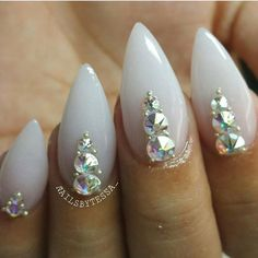 Cute nails by @nailsbytessa_ featuring our Swarovski crystals and metallic caviar beads! Shop for your nail art accessories at DailyCharme.com.