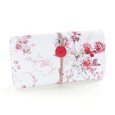 Nähpaket Portemonnaie Rose - hellrot - hellgrau - lachs