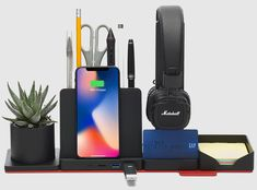 STEALTHO is raising funds for Transformer Desk Organizer with Wireless Charger & USB hub on Kickstarter! STEALTHO Office Storage Accessory includes- Pen & Phone & Post-it & Copy holder, Writing board, Headphone & Sticky notes stand, Coaster Cute Office Supplies, Desk Supplies, Office Supply Organization, Desktop Organization, Printer Desk, Post It Holder, Liquid Chalk Markers, Usb Hub, Yanko Design