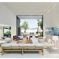 How to Beautifully Blend Indoor and Outdoor Living Spaces Living Area, Living Spaces, Living Room Designs, Living Room Decor, Glass House Design, Retreat House, Love Your Home, Interior Decorating, Interior Design
