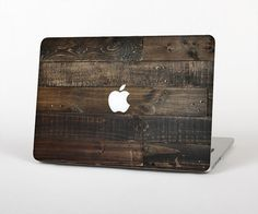 The Dark Wooden Worn Planks Skin for the Apple MacBook Air- Pro or Pro with Retina Display (Choose Version)