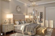 Lustro dekoracyjne w stylu nowojorskim glamour LUNA - zdjęcie od PRIMAVERA-HOME.COM - Sypialnia - Styl Glamour - PRIMAVERA-HOME.COM