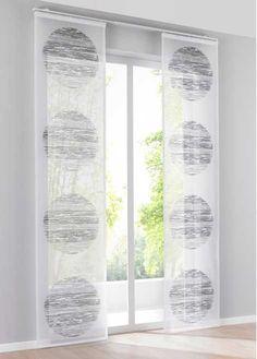 Bekijk nu:Stijlvolle raamdecoratie van lichte stof: dit paneelgordijn is versierd met moderne cirkelmotieven. De voile laat veel licht in de kamer vallen. Heel eenvoudig aan de gordijnrail vast te maken met de meegeleverd klittenbandrail.