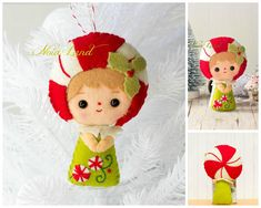 This PDF hand sewing pattern will give you instructions and patterns to make the dolls pictured. Size: 5 approximately. Language: English THIS IS NOT A FINISHED DOLLS. THIS PDF e-Pattern includes: . Step by step photo tutorial. . A material and supply list. . Full size pattern pieces