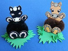 Horse craftybugs for home and group kids craft sessions. #craftybugs