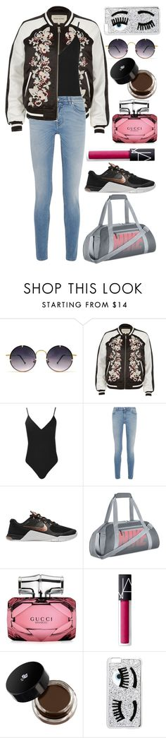 """""""untitled #21"""" by alueinwonderland on Polyvore featuring Spitfire, River Island, Boohoo, Givenchy, NIKE, Gucci, NARS Cosmetics and Chiara Ferragni"""