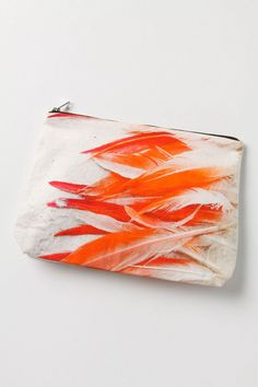 @Anthropologie Flamingo! Perfect for holding my make-up while  Flamenco dancing, I think... @Samudra canvas pouch