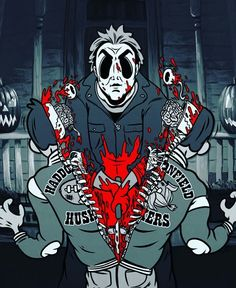 fondos terrorificos Michael Myers Does the Splits - Art Print Horror Cartoon, Horror Icons, Cartoon Art, Funny Horror, Cartoon Styles, Michael Myers, Arte Horror, Horror Art, Horror Movie Characters