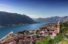 Kotor harbour from Church of Our Lady of Remedy - This is the classic view of…