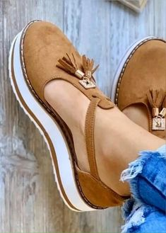 Summer Wedge Suede Plus Size Sandals – Mensootd Summer Wedges, Summer Shoes, Summer Sandals, Cute Shoes, Me Too Shoes, Comfortable Flats, Brown Sandals, Suede Heels, Womens Flats