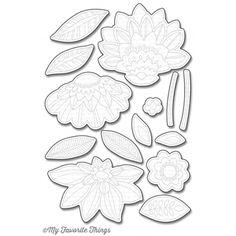 My Favorite Things FANCY FLOWERS Die-Namics MFT1019