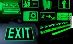 Señalitica en Vinilo Fotoluminiscente – Señales de Seguridad