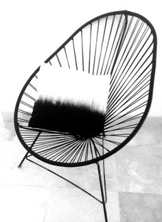 Acapulco chair in all black. #acapulco #acapulcochair #design #classic #mexico