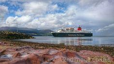 'Caledonian Isles' arriving in harbour Arran, Scotland