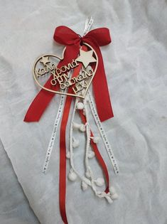 Wonderful wooden charms for good luck With lace ribbons and a wooden element cm) in total length 35 cm. It is given in a box with luxury paper Color can change on demand. Good Luck Gifts, Personalized Christmas Gifts, Lace Ribbon, Christmas Tree Ornaments, Trending Outfits, Unique Jewelry, Handmade Gifts, Etsy, Vintage