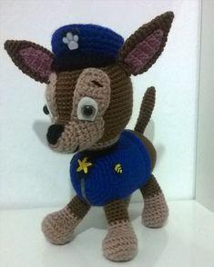 "Community Crochet: Patron Chase ""Canine Patrol"" Part 1 Crochet Teddy, Crochet Toys, Crochet Baby, Free Crochet, Minion Crochet Patterns, Amigurumi Patterns, Paw Patrol, Knitted Dolls, Stuffed Animal Patterns"
