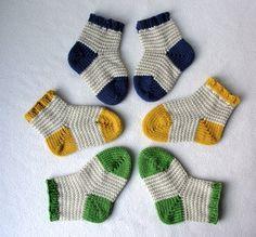 KNITTING PATTERN / William's Baby Socks / knit sock pattern / baby sock pattern / striped sock pattern Sizes mos / Striped Baby Socks – Knitting Socks Knitting For Kids, Knitting Socks, Baby Knitting, Crochet Baby, Knitted Hats, Knitted Baby Socks, Crochet Socks, Knitted Slippers, Knitting Machine