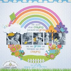 Doodlebug Design Inc Blog: Mix & Match Challenge: Don't Stop Playing layout by Melinda