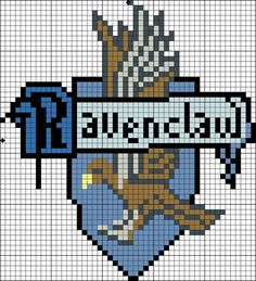 Fantastic Screen Cross Stitch harry p.You can find Ravenclaw and more on our website. Harry Potter Perler Beads, Harry Potter Crochet, Harry Potter Jewelry, Harry Potter Diy, Cross Stitching, Cross Stitch Embroidery, Cross Stitch Designs, Cross Stitch Patterns, Harry Potter Minecraft