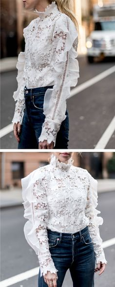 Stepping out in this floral crochet top with its exaggerated shoulders full of frills will immediately render you a masterpiece. Floral Museum Crochet Top (Item Number:T20161019010) featured by yaelsteren Blog