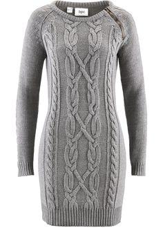 6e0919b158aba5 Gebreide jurk grijs gemêleerd - bpc bonprix collection nu in de onlineshop  van bonprix.nl