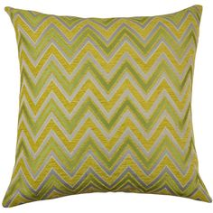 Chic Home Chenille Jacquard 18-inch Throw Pillows (Set of 2) (Yellow), Size 18 x 18
