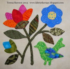 """FABRIC THERAPY: All """"Song of Spring"""" blocks are finished...and the sale is OVER!"""