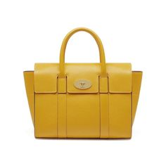 9fc15c34862a Shop the Small Bayswater in Canary Small Classic Grain Leather. For the  Small Bayswater the