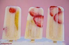#paletas made of strawberry banana and horchata! #WMTMoms