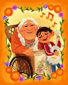 Happy Grandparents Day from all of us here at Chipandco! Disney Pixar Coco, Walt Disney, Disney Fan Art, Disney Family, Disney And Dreamworks, Disney Magic, Disney Dream, Disney Love, Disney Stuff