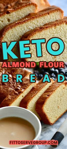 This recipe for keto cream cheese almond flour bread makes a great basic white bread loaf. The perfect low carb bread for when you are missing bread while doing keto.  It has an airy, light texture that is not at all eggy. Best of all it's made with easy to come by ingredients. #ketobread #lowcarbbread #ketocreamcheesebread #lowcarbcreamcheesebread
