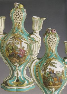 This pair of pot pourri vases was created by Sèvres in 1762, they belonged to Madame de Pompadour