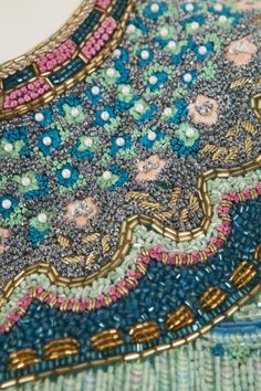 A RICHILENE DRESS, CIRCA 1968. The embroidery!!! French KNOTS all over the place... WOW!!!