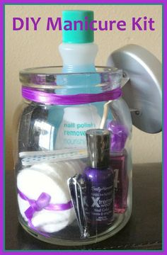 This would be a cute bridesmaids gift a few days beforehand....everyone could get together and have a mani-pedi party:)